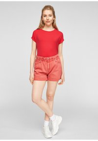Q/S designed by - Basic T-shirt - red - 1