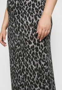 CAPSULE by Simply Be - LEOPARD PRINT TUBE SKIRT - Mini skirt - black/grey - 5