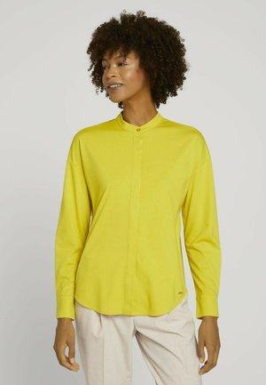 Button-down blouse - dusty lime