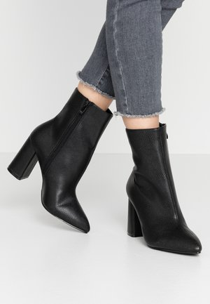 WIDE FIT MEADOW - High heeled ankle boots - black
