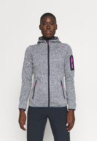 CMP - WOMAN FIX HOOD JACKET - Fleece jacket - titanio/bianco - 0