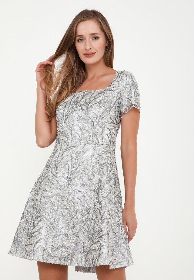 AGAVA - Korte jurk - silbrig