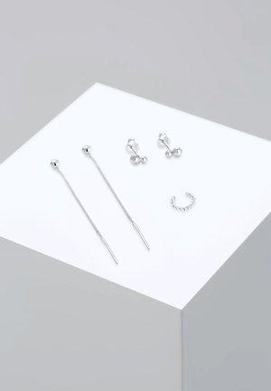 3 PACK BASIC - Earrings - silver-coloured