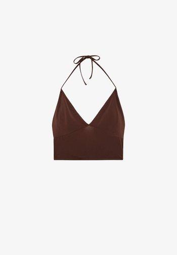 Top - mottled brown