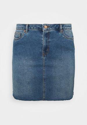 VMFAITH SHORT SKIRT MIX - Mini skirt - medium blue denim