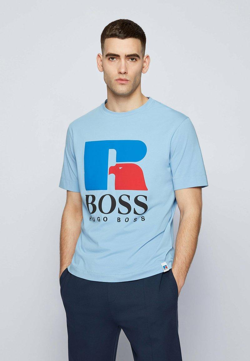 BOSS - Print T-shirt - open blue