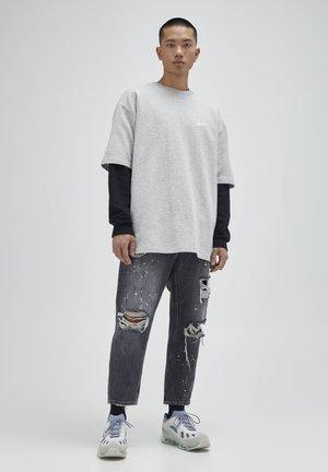 Jeans baggy - mottled dark grey