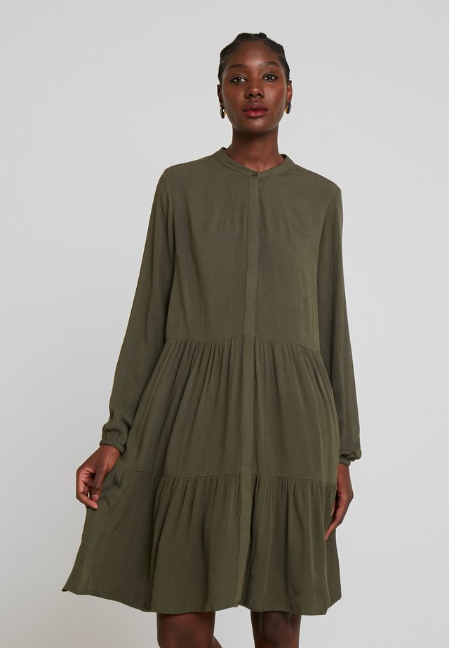 FQFLOW SOLID - Shirt dress - olive night