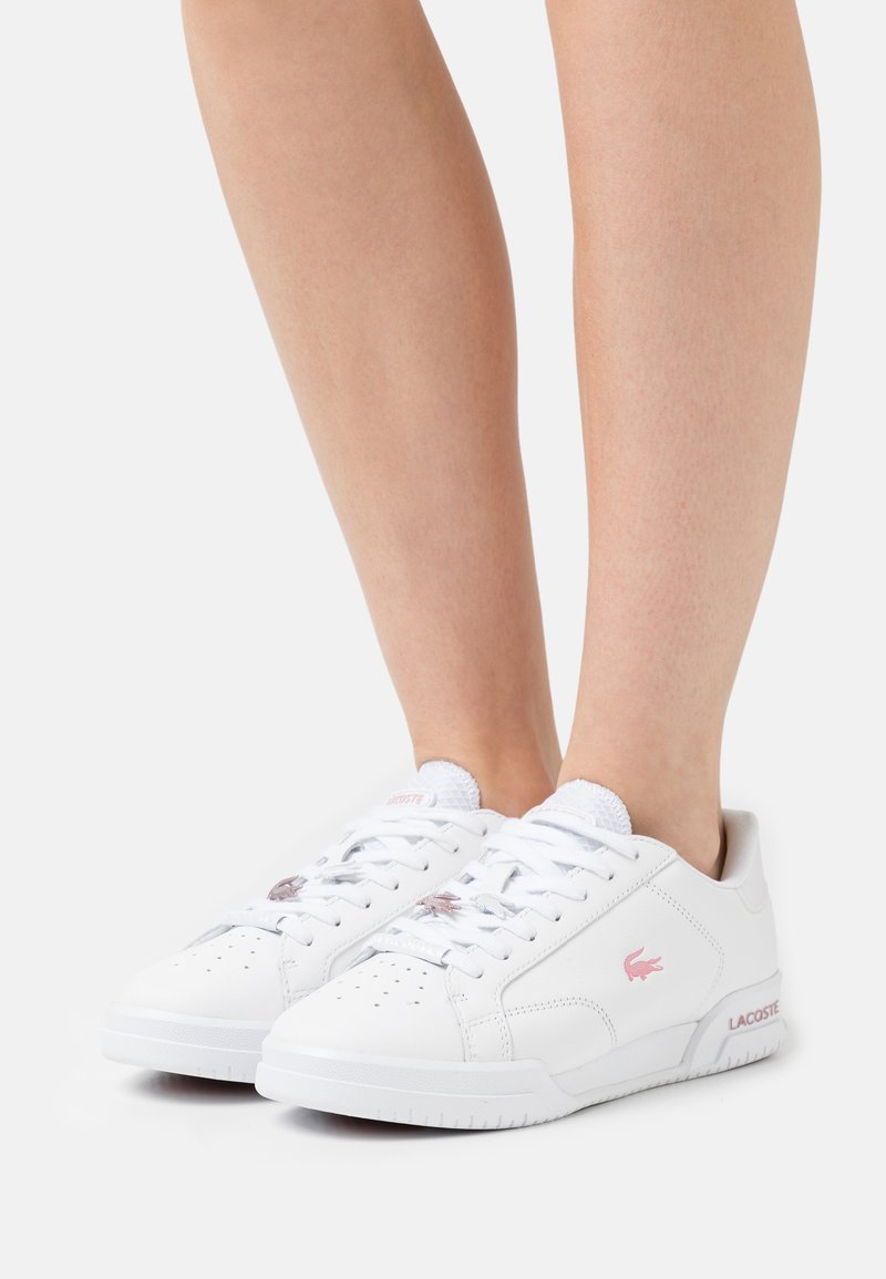 Lacoste - TWIN SERVE - Trainers - white/light pink