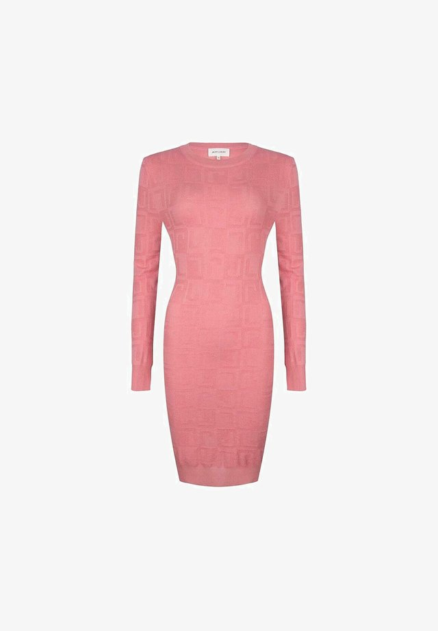 Gebreide jurk - pink