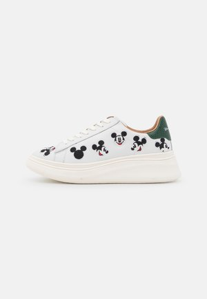 DOUBLE GALLERY MICKEY EMBROIDERY - Sneakers laag - white