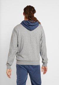 Puma - REBEL BLOCK HOODY - Mikina na zip - medium gray heather - 2