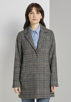 Short coat - black white glencheck design