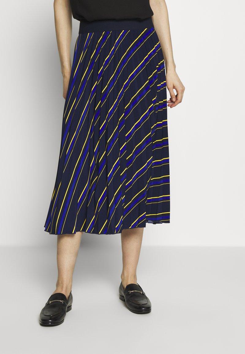 NAF NAF - LASTREET - A-snit nederdel/ A-formede nederdele - dark blue