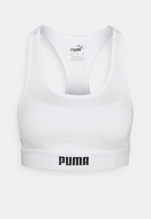 PAMELA  REIF X PUMA  COLLECTION LAYER SPORT CROP  - Medium support sports bra - star white