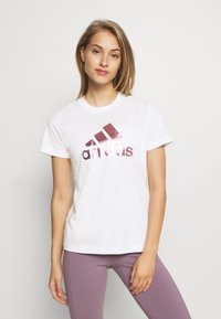adidas Performance - UNIVVOL TEE - T-shirt z nadrukiem - white - 0
