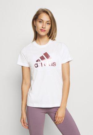 UNIVVOL TEE - Print T-shirt - white