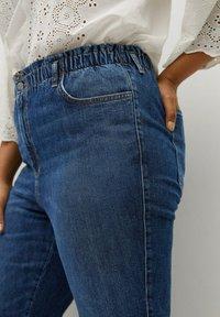 Violeta by Mango - PAPERBAG - Straight leg jeans - dunkelblau - 4