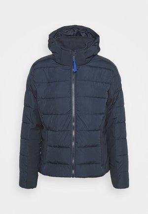 MAN JACKET ZIP HOOD - Winter jacket - black blue