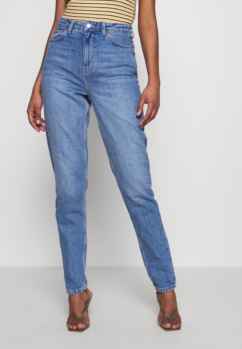 Topshop Tall - MOM CLEAN - Relaxed fit jeans - blue denim