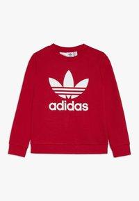 adidas Originals - TREFOIL CREW - Sweatshirt - scarlet/white - 0
