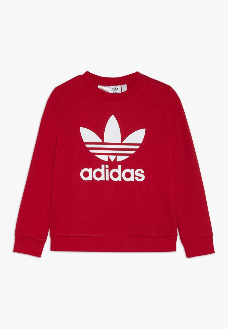 adidas Originals - TREFOIL CREW - Sweatshirt - scarlet/white