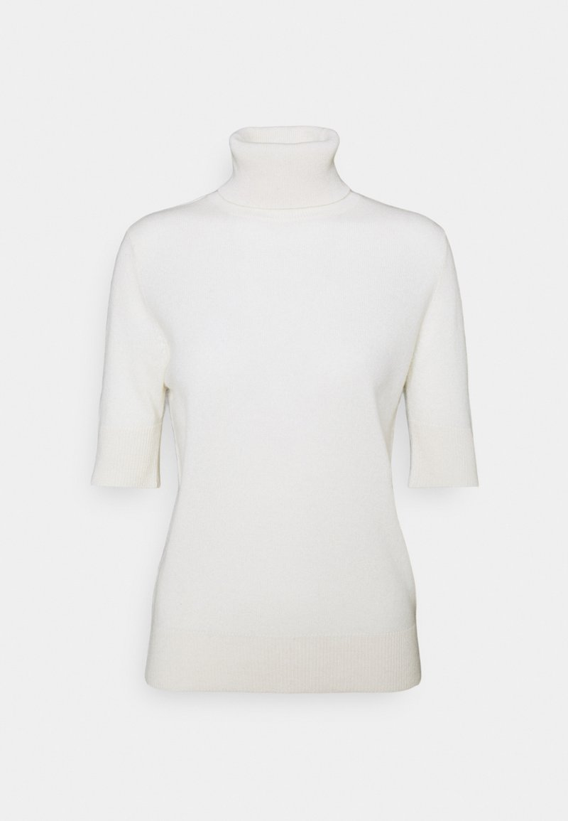 pure cashmere - TURTLENECK SHORTSLEEVE - Triko spotiskem - vintage white