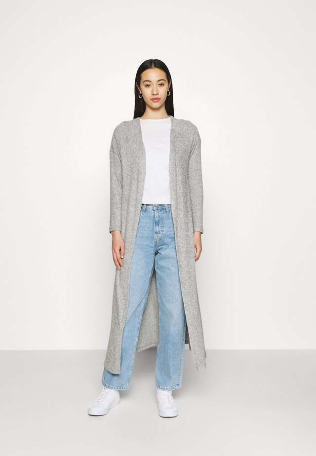 ONLLUNA LONG CARDIGAN - Kardigan - light grey melange