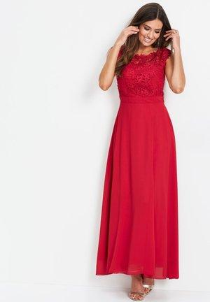 MIT SPITZE EDLES ABENDKLEID  - Cocktailkleid/festliches Kleid - rot