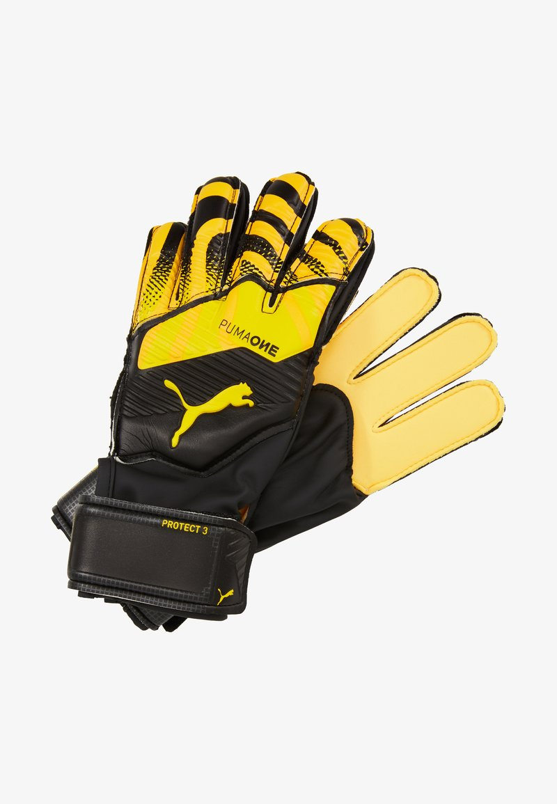 Puma - ONE PROTECT - Goalkeeping gloves - ultra yellow/black/white