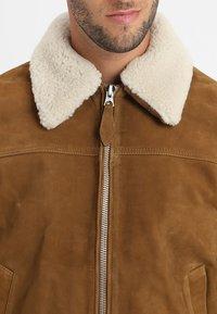 Schott - OFFICIER - Leather jacket - rust - 6