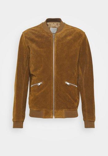 MONACO - Leather jacket - camel