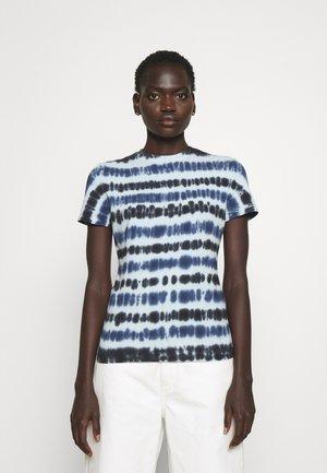 TIE DYE - T-Shirt print - navy/aqua/black
