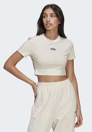 R.Y.V. CROP TOP - Camiseta básica - white