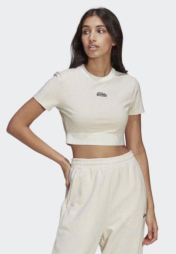 R.Y.V. CROP TOP - Basic T-shirt - white