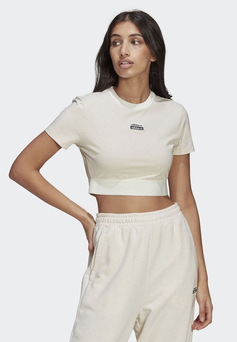adidas Originals - R.Y.V. CROP TOP - T-shirt basic - white