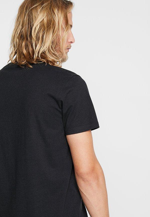 Hollister Co. 5 PACK CREW - T-shirt z nadrukiem - white/grey/red/navy texture/black/biały Odzież Męska BDKP