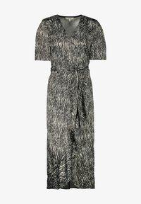 Garcia - WRAP WITH ZEBRA PRINT - Day dress - black - 3