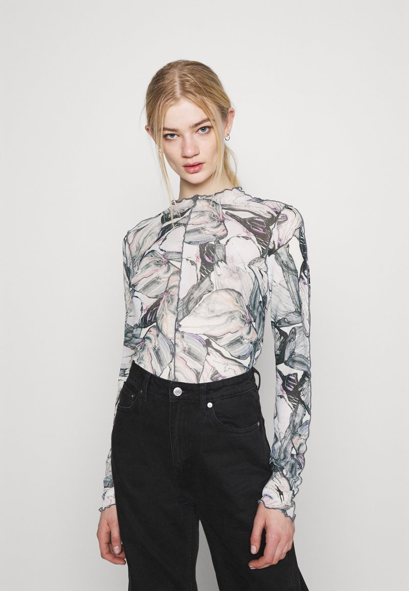 Monki - FAIRLY TOP - Longsleeve - marble stone