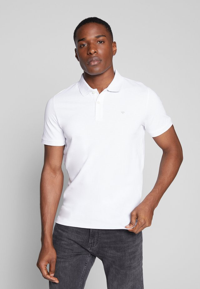 BASIC WITH CONTRAST - Poloshirt - white