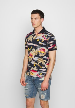 SUMMER PRINT REGULAR - Polo shirt - blue