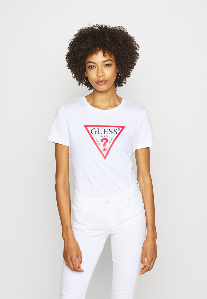 Guess - Print T-shirt - true white