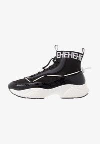 Ed Hardy - RUNNER TRIBAL - Sneakersy wysokie - black/white - 0