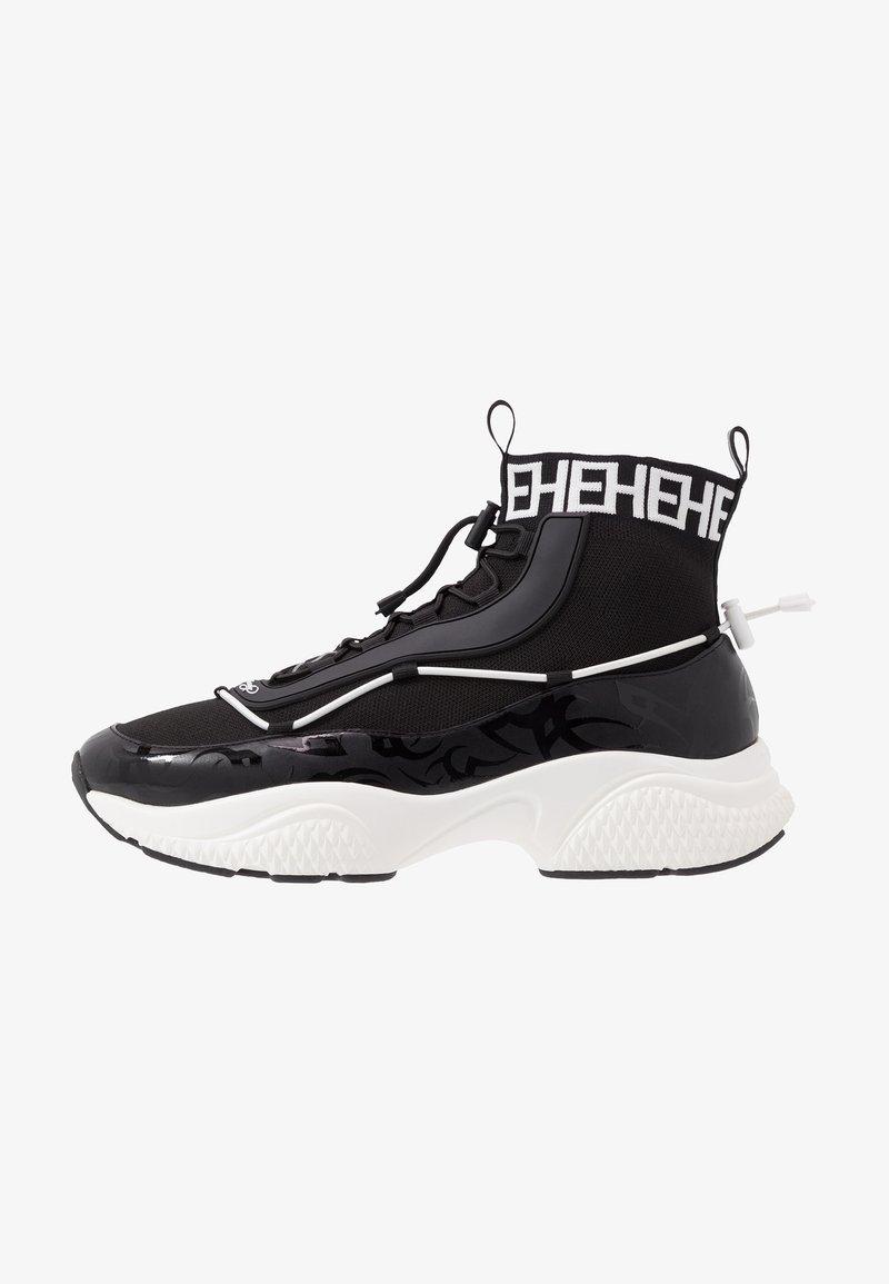 Ed Hardy - RUNNER TRIBAL - Sneakersy wysokie - black/white