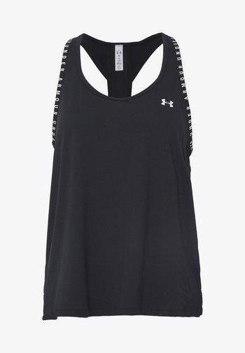 KNOCKOUT TANK - Treningsskjorter - black/white