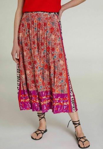 A-line skirt - red violett