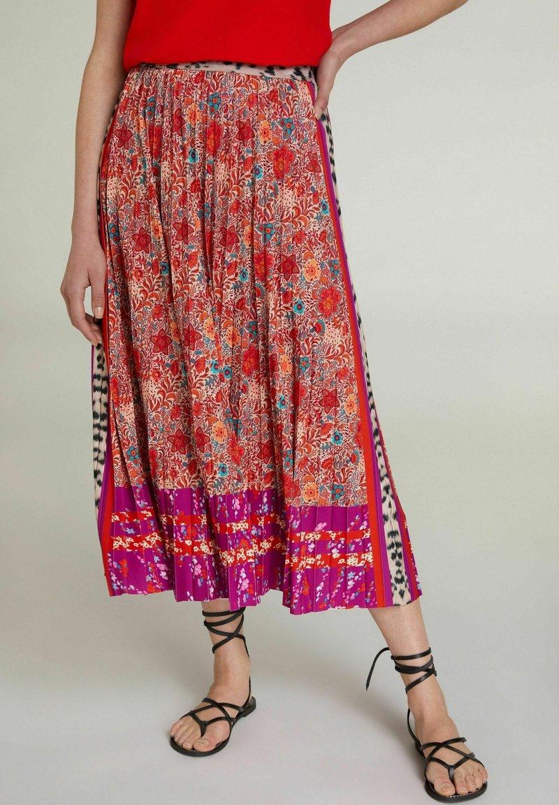 Oui - A-line skirt - red violett