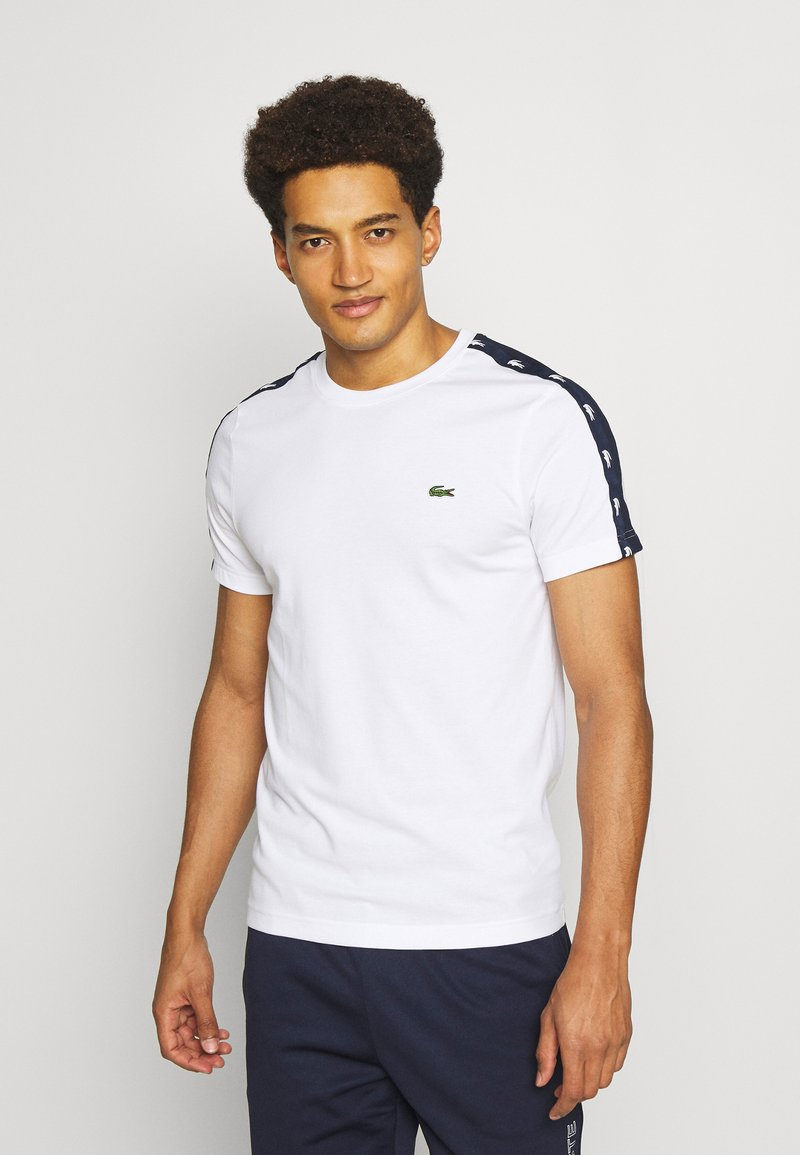 Lacoste Sport - Printtipaita - white/navy blue