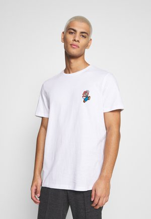 JCOSUPER MARIO CHEST TEE - Print T-shirt - white