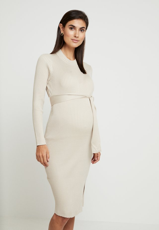 TIE WAIST DRESS - Jumper dress - cream